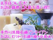 手作り洗顔石鹸アンティアン「お試しセット」(石鹸5種+化粧水付)
